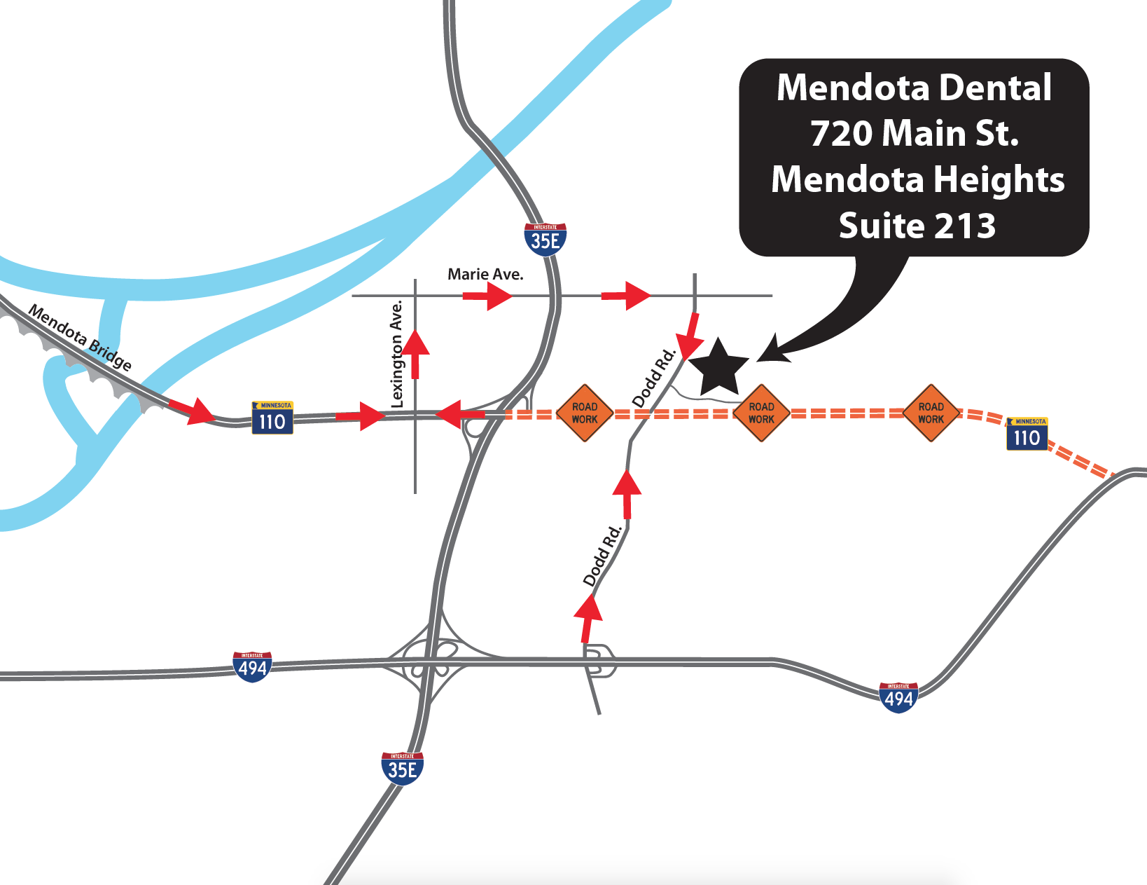 Directions | Mendota Dental Associates